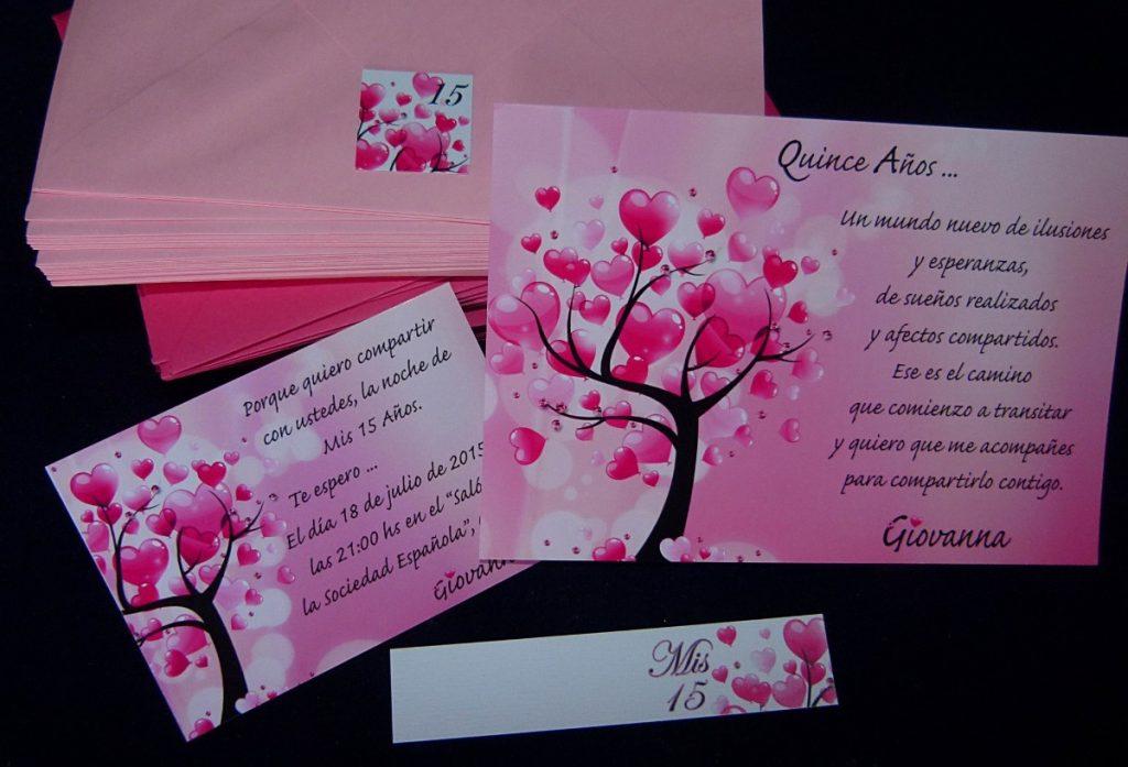 Invitaciones con corazones